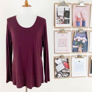 Cabi Scoop Neck Top Medium Long Sleeve Jersey Knit